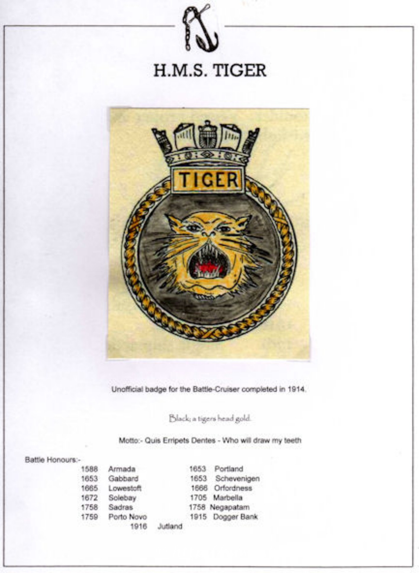 tiger crest unofficial